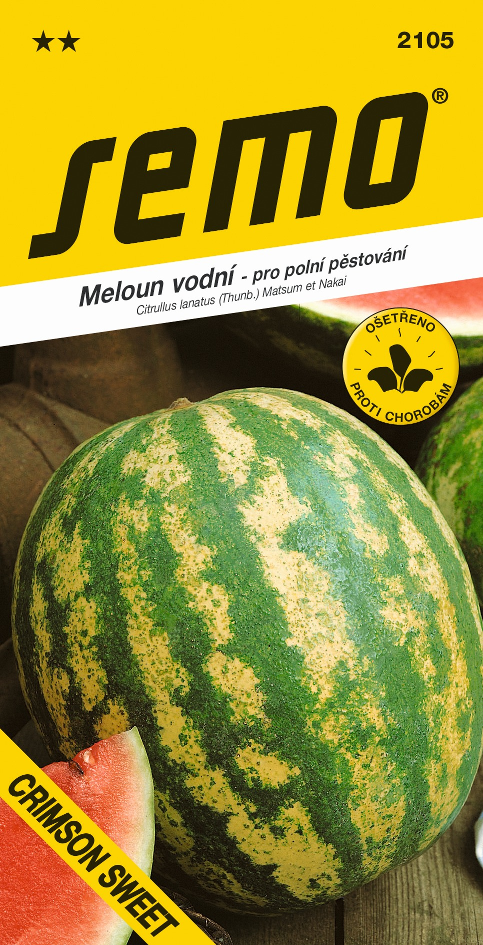Melon vodový CRIMSON SWEET  S